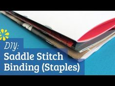 New tutorial: DIY Saddle Stitch Bookbinding with Staples. Perfect for making your own comic book or booklet.
