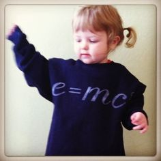 Kid's E=MC2 hand stenciled Sweatshirt $19.00, via Etsy.