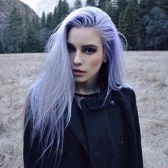 Ethereal nuances of pastel-colored lavender hair Coloured Hair, Dye My Hair, Grunge Hair, Gorgeous Hair, Pretty Hairstyles, Punk Rock Hairstyles, Scene Hairstyles, Hair Inspiration, Character Inspiration