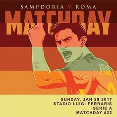 @Regrann from @officialasroma -  #MatchDay! 🔶🔴 Carichi❓ Qual è il vostro pronostico per #SampRoma❓ *** #Samp v #Roma is not far off❗️ What is your prediction for the game today❓ *** Follow @officialasroma on Instagram *** #DajeRoma #ForzaRoma #giallorossi #seriea #calcio #football #italia #perotti #graphic #infographic #design #marassi #romaart #sampdoria #genova #ferraris - #regrann