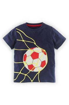 Mini Boden Sports Appliqué T-Shirt (Toddler Boys, Little Boys & Big Boys) available at #Nordstrom