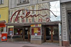Film and Photo Shoot Locations in Austria: Exterior with Neon Sign, Filmcasino