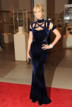 Celebrity Fashion:   Ivanka Trump demonstrates just how revealing a turtleneck can be in Peter Pilotto's velvet stunner.