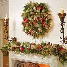 chimenea-decorada-navidad1.jpg (500×500)