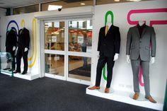 // visual merchandising // display // suits // menswear // mens fashion