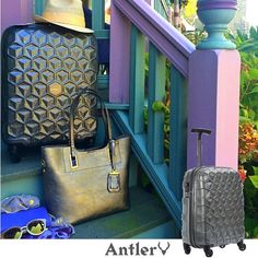 Cute Carry-On + Interior Organizing Options = The Atom by Antler   With interior dimensions of 19″ x 15″ x 8″, the Atom Four-Wheeled Carry-On is on the petite side, even for a carry-on. I worried not only about having room for everything I needed to bring but also about my party dress and special-event tops getting rumpled in such a small space.