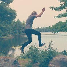 Jumping for joy - Lake Armishaw #SummerInOntario