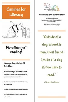 Bookmark from New Hanover County Public Library