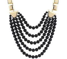 Luxe Rachel Zoe Geometric Link Bead Necklace - QVC.com
