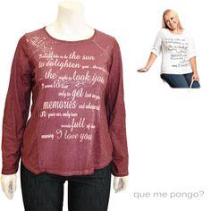 Camiseta Lentejuelas · Camisetas y Tops