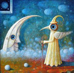 Moon and Guardian of Dawn by Leszek Andrzej Kostuj