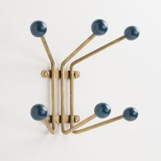 mid-century modern Mollie Hook - Peacock Blue and Brass | Schoolhouse Electric & Supply