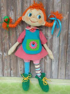 Tекстильная кукла - Пеппи 2 - купить или заказать в интернет-магазине на Ярмарке Мастеров - FGKSFRU. Курск | Игровая кукла ручной работы сделана из…