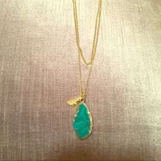 Turquoise stone necklace Mint condition. Never worn Olivia Welles Jewelry Necklaces