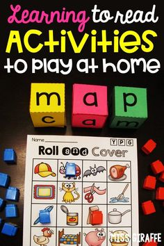 First of all - Happy Friday, friends! I have been very busy but wanted to take a second to tell you all about a reading game I LOVE. Fun Games, Games For Kids, Fun Activities, Reading Games, Reading Fluency, First Grade Games, Word Building, Game Boards, Cvc Words