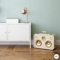 "The HiFi Case - ""Audrey Hepburn"" inspired bluetooth suitcase speaker"