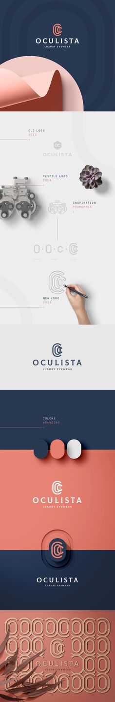 In our project for Oculista, we developed not only its new brand identity but we also design and produced and/or applied its new packaging and facade supports. Oculista is an official reseller of the most prestigious luxury eyewear brands. Corporate Identity, Identity Design, Brand Identity, Logo Design, Branding Agency, Luxury Branding, Jobs Apps, Behance, Design Agency