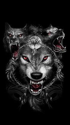 35 Ideas For Tattoo Wolf Desing Werewolves Anime Wolf, Tier Wallpaper, Wolf Wallpaper, Gothic Wallpaper, Wolf Tattoo Design, Wolf Tattoos, Wolf Spirit, Spirit Animal, Fantasy Wolf