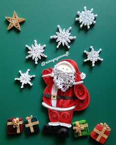 """""""welcoming December: christmas magic! dear Santa ❄️⛄️ #quilling #paperquilling #papercraft #nonapapercraft #christmas #holiday #merrychristmas #snow…"""""""