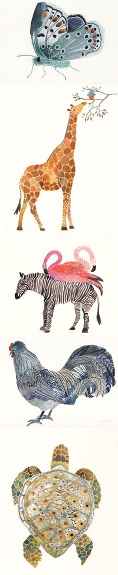 I love these watercolor animals from United Thread. wouldn't they be beautiful in a little cluster on your wall?