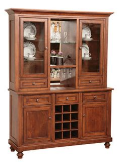 33% Off Traditional 3 Door Bread Box Hutch In Rustic Cherry