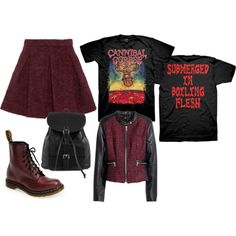 A fashion look from January 2015 featuring H&M jackets, Karl Lagerfeld mini skirts and Dr. Martens ankle booties. Browse and shop related looks.