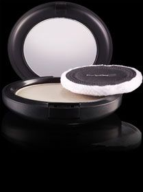 Mac Blot Powder in Light. I keep one of these compacts in all my bags. I prefer to apply it with a brush, though.