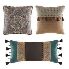The Zarina decorative pillows by Croscill feature beautiful refined...