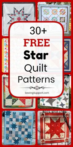 Free Quilt Patterns for Star Quilts. Over 30 free star quilt patterns, tutorials, and diy projects, including giant lone Lone Star Quilt Pattern, Barn Quilt Patterns, Star Quilt Blocks, Star Quilts, Mini Quilts, Star Patterns, Pattern Blocks, Sewing Patterns Free, Free Quilt Block Patterns