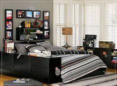 15+ Amazing Tween/Teen Boy Bedrooms | Striped ceiling, Farrow ball ...