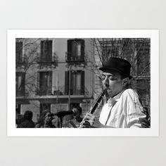 Clarinettist Art Print by Yarapoctli - $14.60