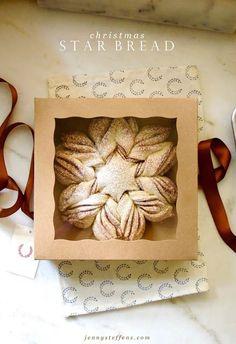 Easiest Hostess Gift!  Homemade Christmas Star Bread - So easy to make.  So beautiful!
