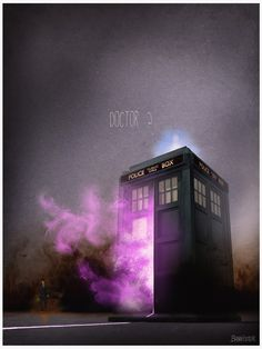 The Doctor's TARDIS - Doctor Who | Posters of Famous Vehicles in TV, Movies and Videogames by Nicolas Bannister