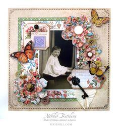 "8"" Secret Garden/Place in Time layout - Nichola Battilana"