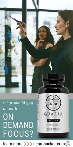 Your daily nutritional support for on-demand focus and concentration. Qualia Focus, as science backed nootropic is designed to enhance the brain's adaptive capacity and up-regulate the entire body for optimal well-being. Gut Brain, Brain Fog, Nutrition Store, Nutrition Guide, Healthy Brain, Brain Health, Brain Connections, How To Increase Energy, Productivity