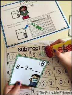 TONS of math centers all using FUN bingo dabbers!