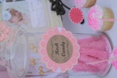 Shabby Chic Rock Candy Jar Sign