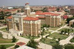 Aerial view of Texas Tech University