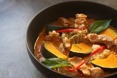 Panaeng Curry with Pork and Kabocha Squash