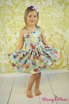Poppy's Girls Boutique Peekaboo Dress PDF Pattern