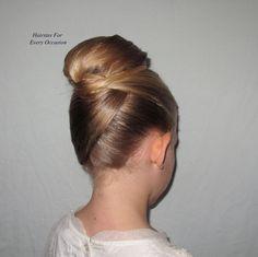 Girly Hair Bun For Long Hair  http://www.youtube.com/watch?v=C6qTh_1sHTM