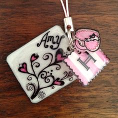 Shrinky dink key fob....need to make one for my kids mg's with their names.