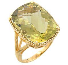 Olive Quartz Ring