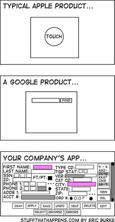 Your product as compared to Apple/Google #prodmgmt #uexp