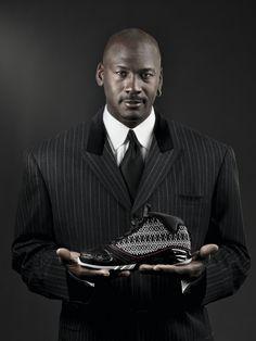 Michael Jordan http://blog.oregonlive.com/pdxgreen/2008/01/nike_colors_the_air_jordan_gre.html