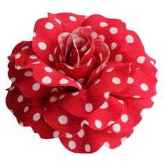 Sara Monica: Hair Flower Clip and Brooch Pin: Polka Dot Rose: Made in USA (Red) >>> This is an Amazon Affiliate link. You can get additional details at the image link.