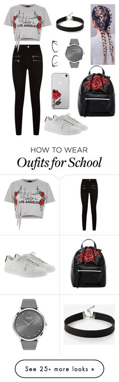 """SCHOOL look"" by glady-dea on Polyvore featuring Paige Denim, River Island, Yves Saint Laurent, T-shirt & Jeans, Express, BOSS Black and Miu Miu"