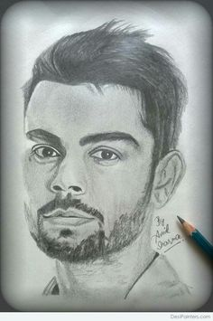 Anil Sharma's drawing VK :) Portrait Sketches, Pencil Portrait, Portrait Art, Portraits, Pencil Sketch Drawing, Pencil Drawings, Anushka Sharma And Virat, Cute Sketches, Hobbies And Crafts