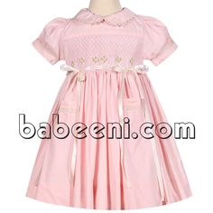 Cute pink geometric smocked dress for girls http://babeeni.com/Detail-cute-pink-geometric-smocked-dress-for-girls---dr-2251-6112.aspx