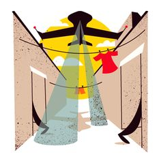 Monocle Survey  Unpublished spot illustrations for Monocle's Quality of Life Survey, depicting security fixes in various cities.    AD: James Melaugh